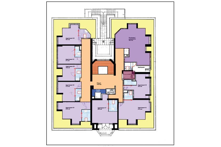 Plattegrond Wassenaar 2e verdieping