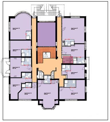 Plattegrond Wassenaar 1e verdieping