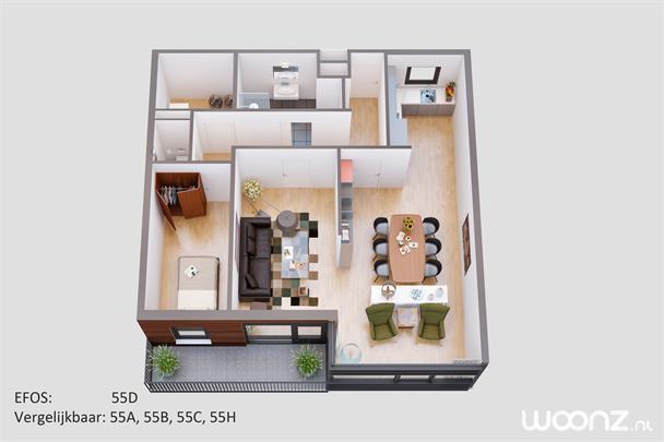 3 kamer appartement, Seniorenappartement in Amsterdam - Woonz.nl