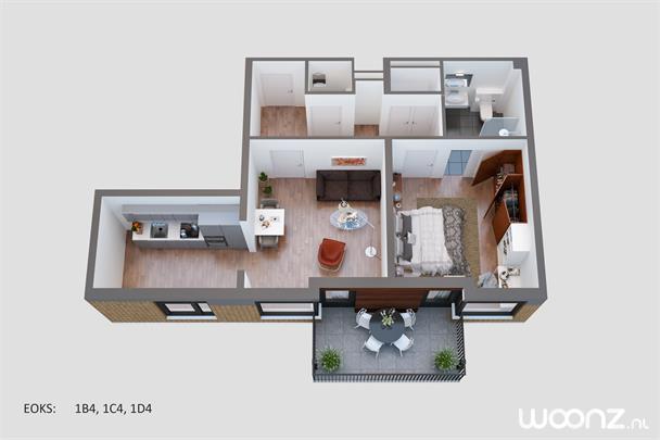 2 kamer appartement op bg