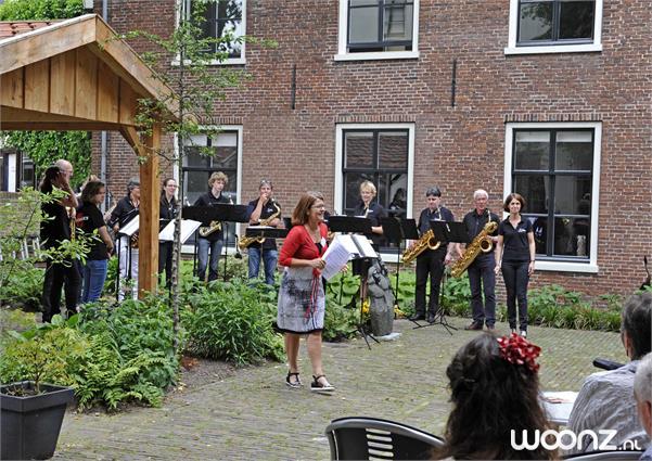 Het Seminarie - Optreden Saxuette in de buitentuin