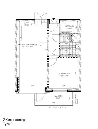 2 en 3 kamer appartementen met balkon