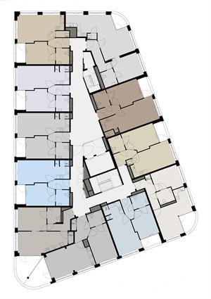 ZeeWinde 2e t/m 5e etage