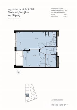 Luxe 2-kamer app met prachtig uitzicht