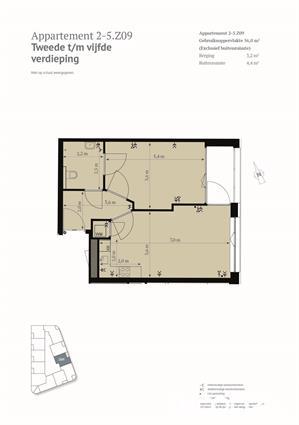 2-kamer appartement met open keuken