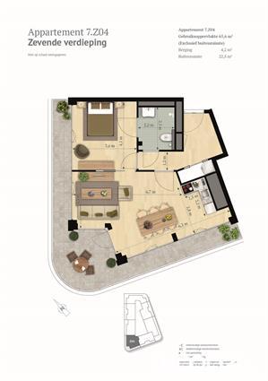 2-kamer topappartement met riant hoekbalkon