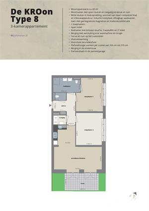Zonnig appartement met eigen tuin (Type 8)