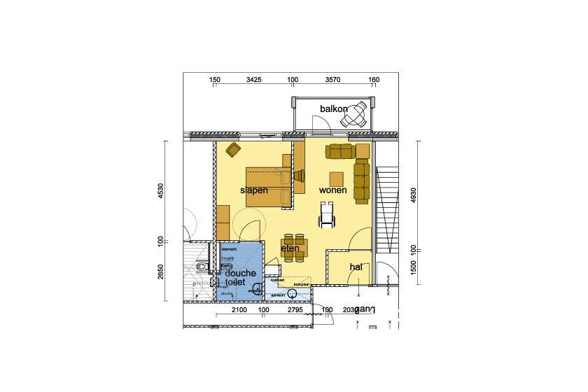 Plattegrond appartement B50