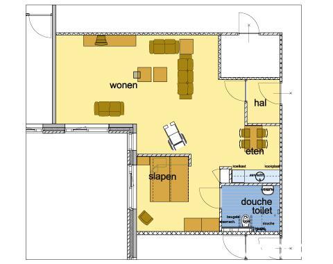 Ruim 1-kamer appartement, Seniorenappartement in Kortenhoef - Woonz.nl