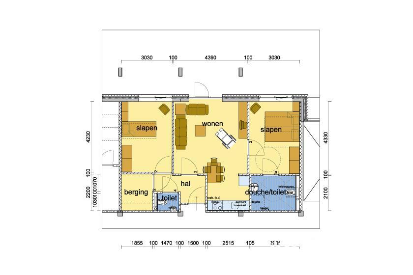 Plattegrond appartement E68