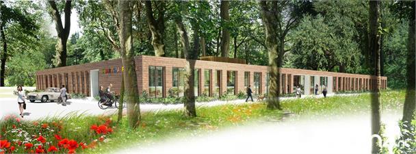 Knusse studio met uitzicht op tuin