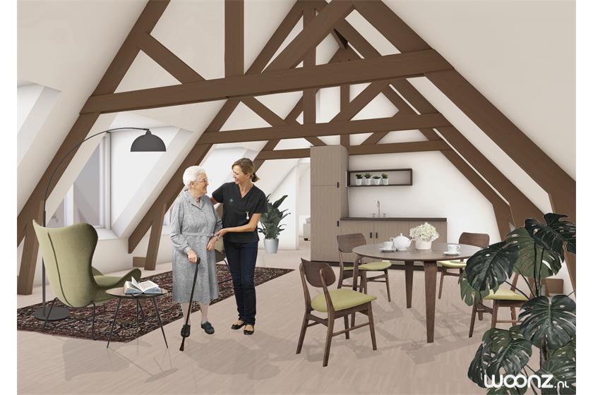 Domus Magnus, Sint Jozefpaviljoen-Studio op zolder hout