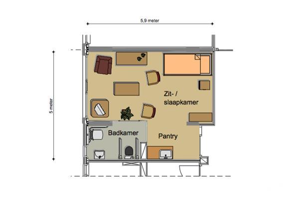 Knusse en huiselijke 1 kamer studio, Zorgappartement in Helmond ...
